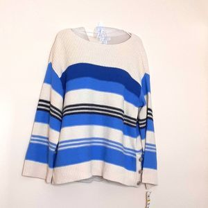 Charter Club Blue & White Sweater-M